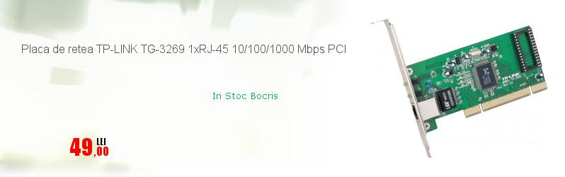 Placa de retea TP-LINK TG-3269 1xRJ-45 10/100/1000 Mbps PCI