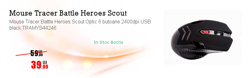 Mouse Tracer Battle Heroes Scout Optic 6 butoane 2400dpi USB black TRAMYS44246
