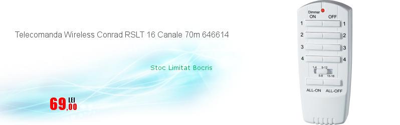 Telecomanda Wireless Conrad RSLT 16 Canale 70m 646614