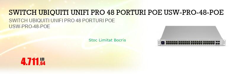 SWITCH UBIQUITI UNIFI PRO 48 PORTURI POE USW-PRO-48-POE